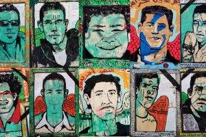 Cairo street art of football heroes.