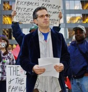 Jonathan Lethem at Occupy Wall Street, 2011.