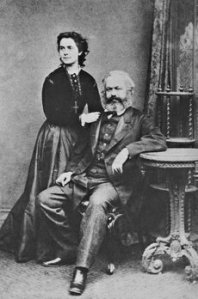 Eleanor and Karl Marx, c. 1872.