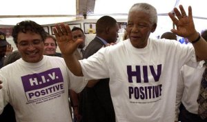 Zackie Achmat and Nelson Mandela, 2002.