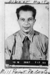 Albert Maltz, prison mugshot