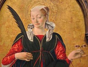 Francesco del Cossa, Santa Lucia, 1473-4.
