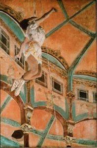 Miss La La at the Cirque de Fernando, 1879 by Edgar Degas